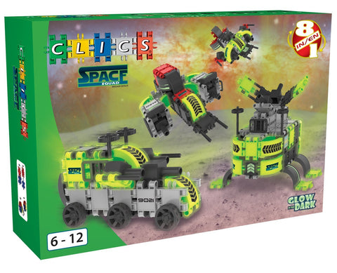 Space Squad Building Blocks Set By Clics - Bloxx Toys - Toronto Online Toys Store - 1