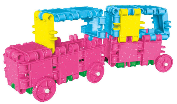 Tube 16 Constructions- Glitter Building Blocks Set By Clics - Bloxx Toys - Toronto Online Toys Store - 3