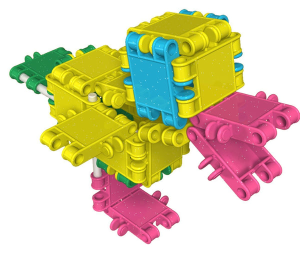 Tube 16 Constructions- Glitter Building Blocks Set By Clics - Bloxx Toys - Toronto Online Toys Store - 4