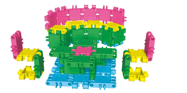 Tube 16 Constructions- Glitter Building Blocks Set By Clics - Bloxx Toys - Toronto Online Toys Store - 5