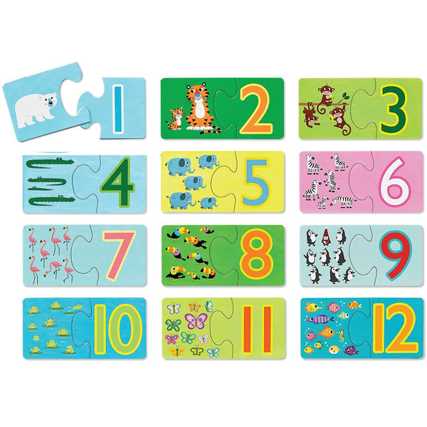 Counting Animals/First Puzzles 2 pc/12 puzzles - Bloxx Toys - Toronto Online Toys Store - 2