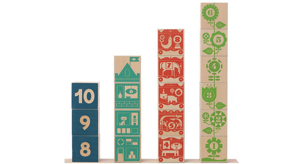 Uncle Goose Count and Stack Numbered Blocks - Bloxx Toys - Toronto Online Toys Store - 2
