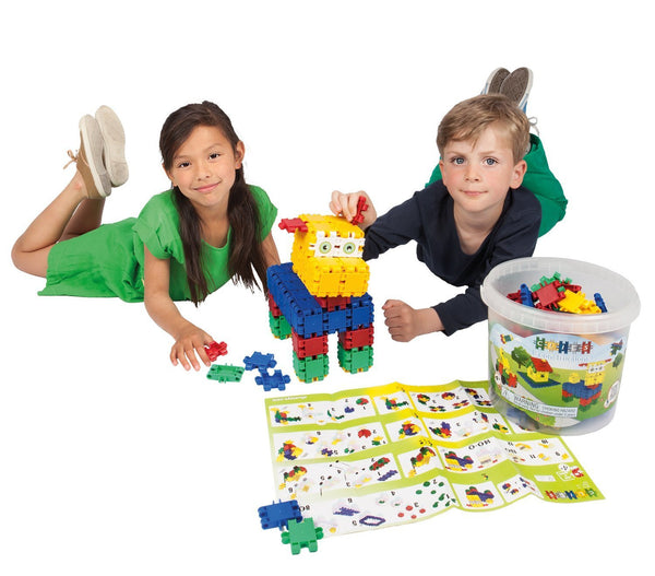Bucket 8 in 1-160/pcs Bucket Building Blocks By Clics - Bloxx Toys - Toronto Online Toys Store - 7