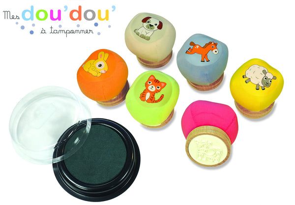 Doudou Stamps - Animals By Crealign - BloxxToys Canada