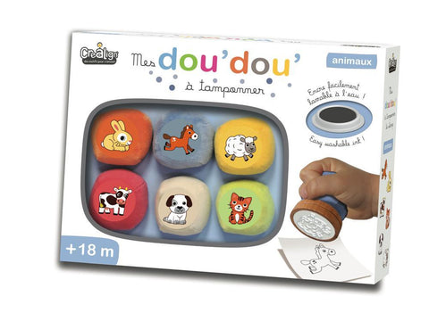 Coffret Tampon Doudou-Animaux By Doudou   Bloxx Toys Kid friendly and educational toy