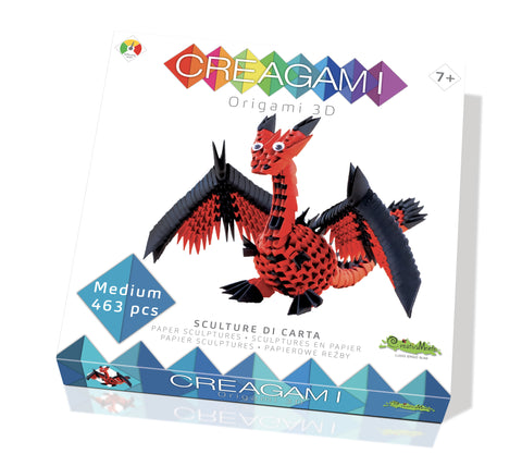 Creagami Origami 3D Dragon Kit By Creativa Mente - BloxxToys