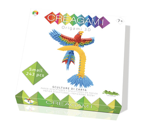 Creagami Origami 3D Parrot Kit By Creativa Mente kid-friendly and educational toy