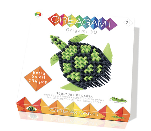 Creagami Origami 3D Turtle Kit By Creativa Mente  Bloxx Toys kid friendly and educational toy
