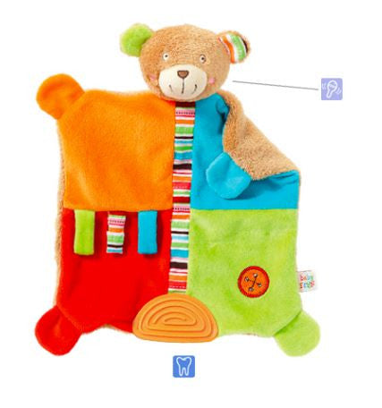 Bear Baby Sleep Comforter Toy with a Soft Teether By Fehn - Bloxx Toys - Toronto Online Toys Store