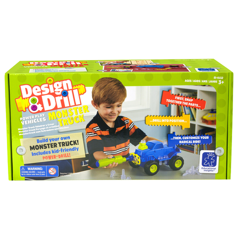 Design & Drill Power Play Vehicles Monster Truck By Educational Insights - Bloxx Toys - Toronto Online Toys Store - 1