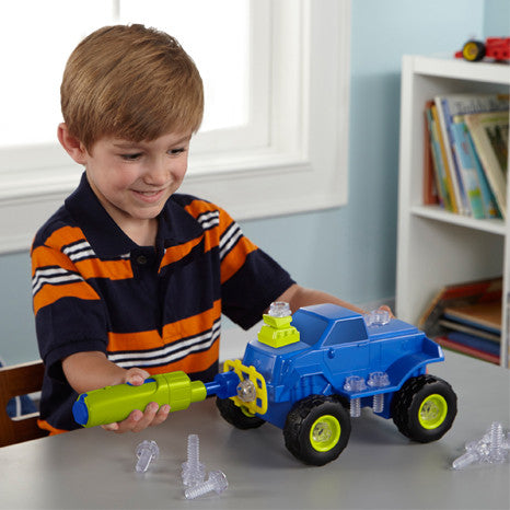 Design & Drill Power Play Vehicles Monster Truck By Educational Insights - Bloxx Toys - Toronto Online Toys Store - 2