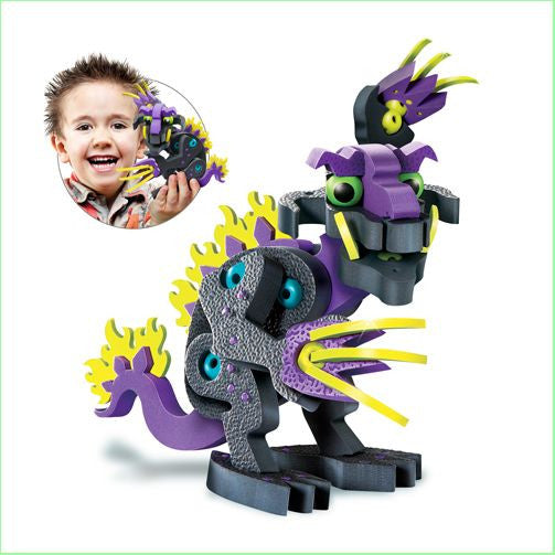 Darko Dragon of Darkness Foam Blocks By Bloco - Bloxx Toys - Toronto Online Toys Store - 2