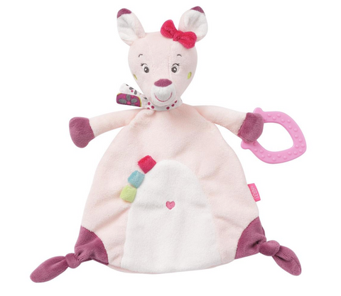 Deer Baby Sleep Comforter Toy with a Soft Teether By Fehn