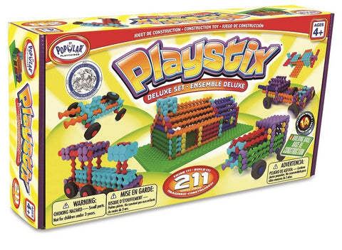 Deluxe Playstix  Set 211 Pcs by Popular Playthings - Bloxx Toys - Toronto - Educational Online Toys Store Canada