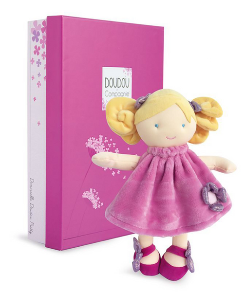 Demoiselle Doudou Small Pretty Lady Doll Rose 28 cm By Doudou