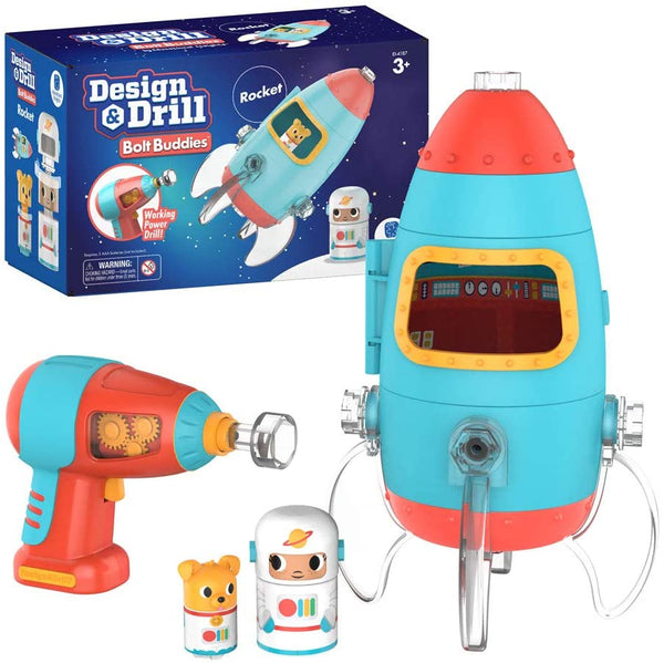Design & Drill Bolt Buddies Rocket By Educational Insights - Bloxx Toys-Toronto,,AutismToys Montreal toys, Alberta toys, Ontario toys, Quebec toys, Children Toys,Kids Toys,Educational toys Online Toys Store Canada