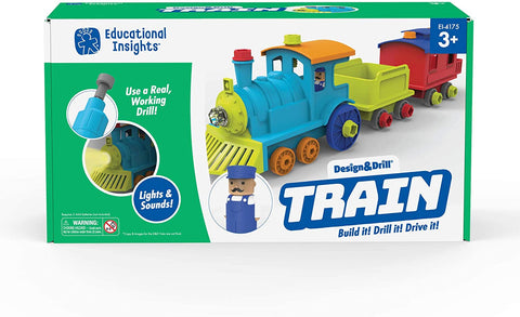Design & Drill Train By Educational Insights - Bloxx Toys-Toronto,,AutismToys Montreal toys, Alberta toys, Ontario toys, Quebec toys, Children Toys,Kids Toys,Educational toys Online Toys Store Canada