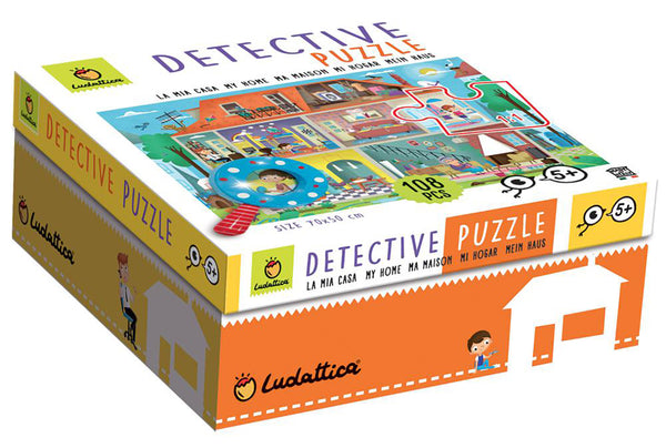 Detective puzzle with magnifier My Home By Ludattica - Bloxx Toys - Toronto, Montreal, Vancouver, Kids, Building Toys, Shopping online, Ontario, Quebec, - Educational Online Toys Store Canada