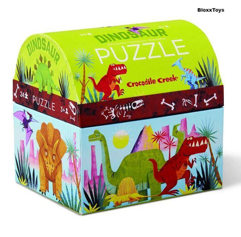 Dinosaur Mini Trunk Puzzle 24 pcs By Crocodile Creek
