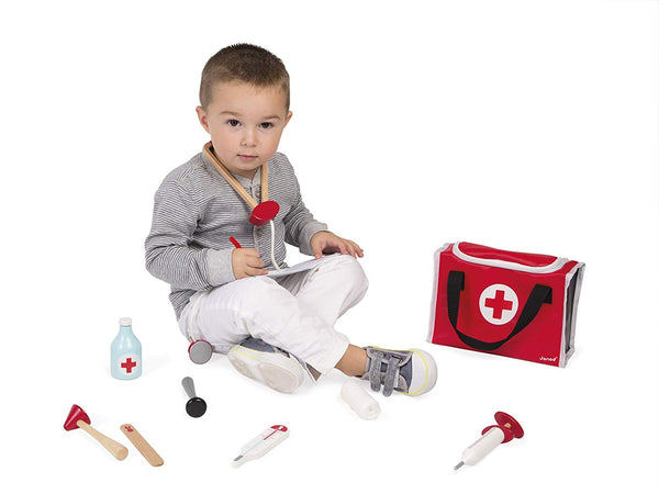 Doctor's Suitcase Educational Toy By Janod-Bloxx Toys - Toronto toys, toy, Montreal toys, toy, Vancouver toys, toy, Alberta toys, toy, Ontario toys, Toy Quebec toys, - Educational toys Online Toys Store Canada