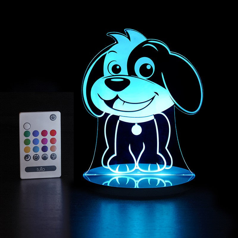Dog Multi Coloured LED Night Light By Tulio Dream Lights - Bloxx Toys - Toronto Online Toys Store