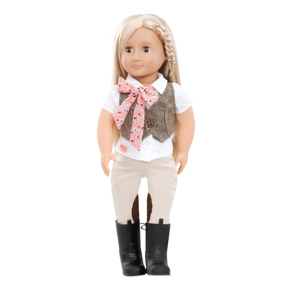 "Doll - Leah Riding Doll 18"" By Our Generation 