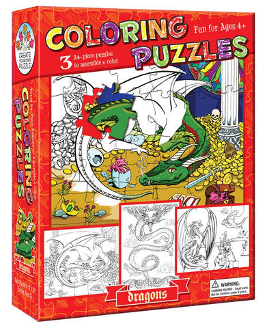 Dragons Coloring Puzzle  By Cobble Hill - Bloxx Toys - Toronto - Educational Online Toys Store Canada