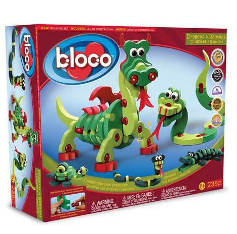 Dragons & Reptiles Foam Blocks By Bloco - Bloxx Toys - Toronto Online Toys Store - 1