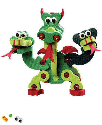 Dragons & Reptiles Foam Blocks By Bloco - Bloxx Toys - Toronto Online Toys Store - 4