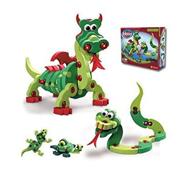 Dragons & Reptiles Foam Blocks By Bloco - Bloxx Toys - Toronto Online Toys Store - 3