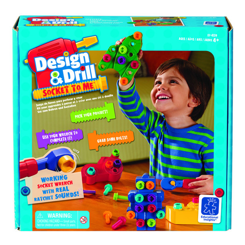 DESIGN & DRILL SOCKET TO ME BY EDUCATIONAL INSIGHTS - Bloxx Toys - Toronto Online Toys Store - 1