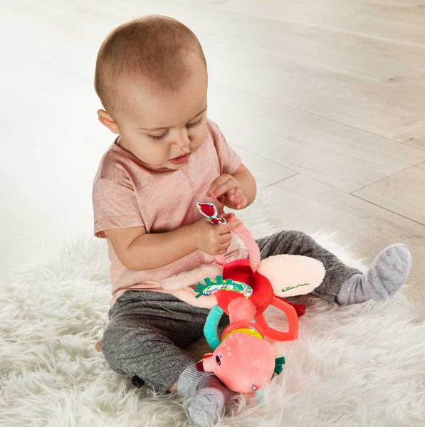 Educational soft toy Anaïs Rattle with handles - By Lilliputiens