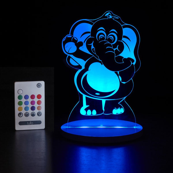 Elephant Multi Coloured LED Night Light By Tulio Dream Lights - Bloxx Toys - Toronto Online Toys Store