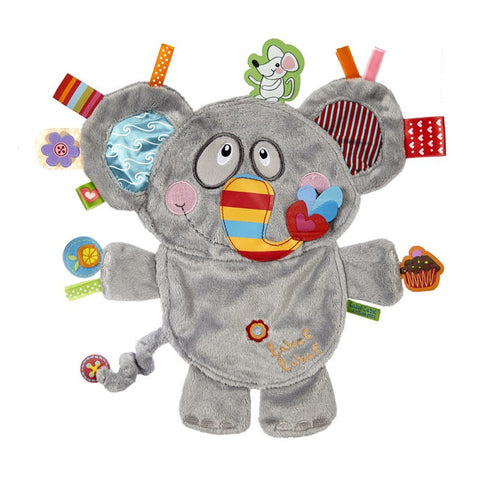 Elephant Sensory Blankets By Label Label - Bloxx Toys - Toronto Canada Online Toys Store Baby Shop Products