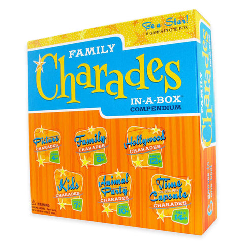 Family Charades in a Box Compendium Party Game By Outset