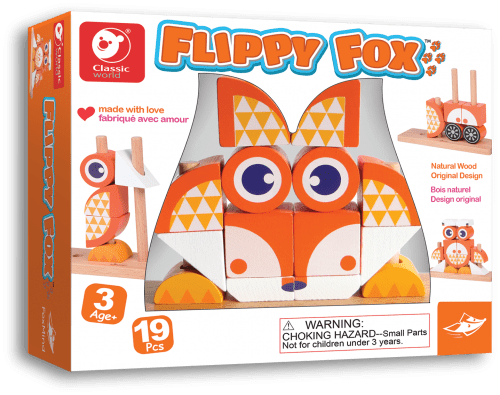 Flippy Fox Unique Block Game By Foxmind | Educational Toys