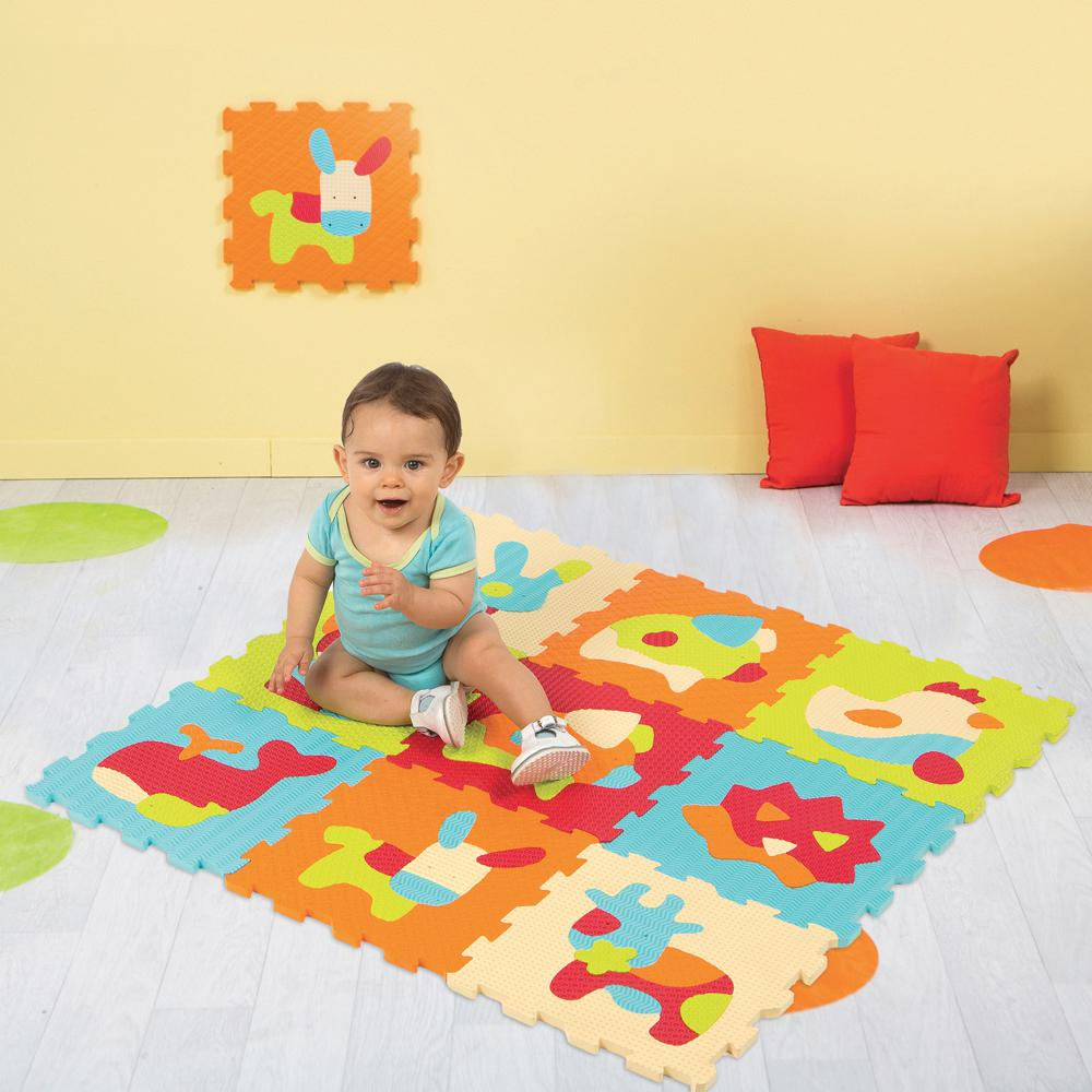 Foam Mat Animal Puzzle By LUDI  BloxxToys Canada