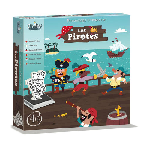 Foam Stamps set - Pirates By Crealign - BloxxToys Canada