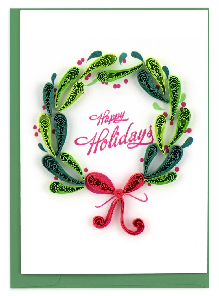 Holiday Wreath Gift Enclosure By Quilling Card