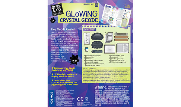GLOWING CRYSTAL GEODE - Bloxx Toys - Toronto Online Toys Store - 2
