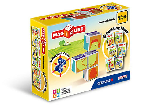 Geomag magnetic cube animals 7 pieces - Geomag - Cube magnétique animaux 7 pieces by Doudou    Bloxx Toys kid friendly and educational toys