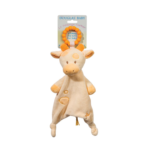 Giraffe Soft Toy Teether by Douglas kid friendly and educational toy