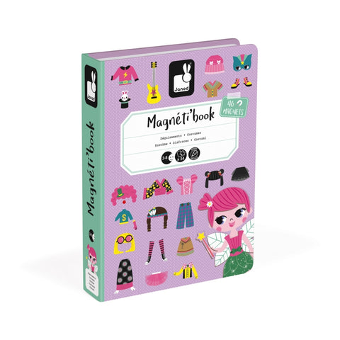 Girl Costumes educational magnetic puzzle/game Book By Janod