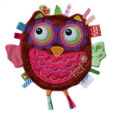 Girl Owl Sensory Blankets By Label Label - Bloxx Toys - Toronto Canada Online Toys Store Baby Shop Products