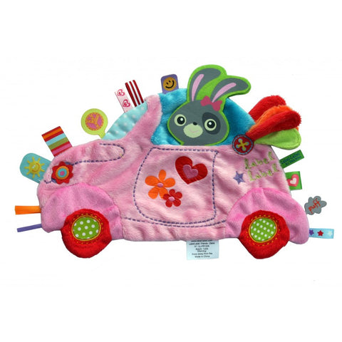 Girls Car Sensory Blankets By Label Label - Bloxx Toys - Toronto Canada Online Toys Store Baby Shop Products