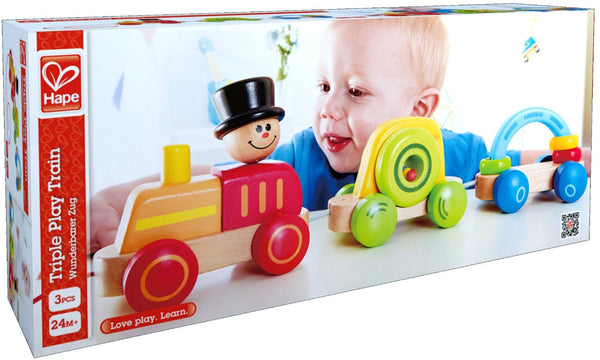 TRIPLE PLAY TRAIN By Hape - Bloxx Toys - Toronto Online Toys Store - 4