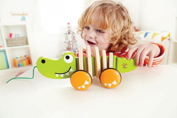 WALK-A-LONG CROCODILE By Hape - Bloxx Toys - Toronto Online Toys Store - 5