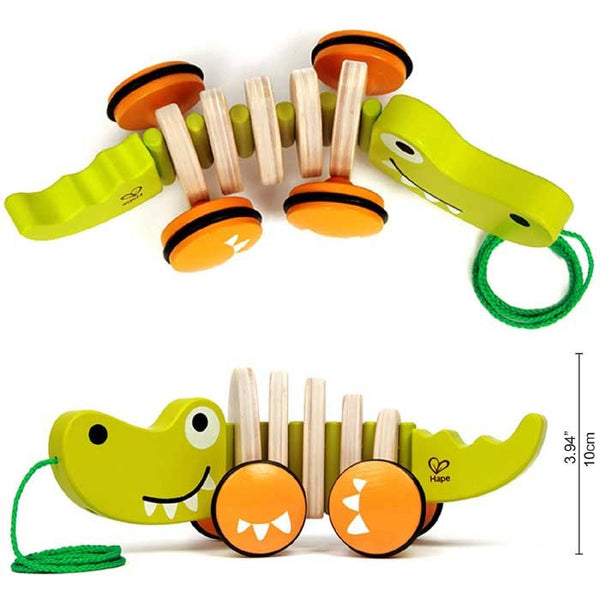 WALK-A-LONG CROCODILE By Hape - Bloxx Toys - Toronto Online Toys Store - 4