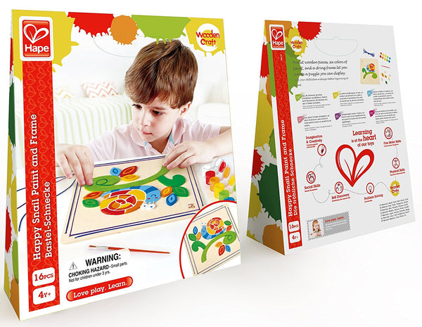 Happy Snail Paint & Frame Arts and Crafts Kit By Hape - Bloxx Toys - Toronto Online Toys Store - 2