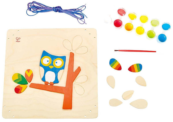 Hoot Owl Paint & Frame Arts and Crafts Kit By Hape - Bloxx Toys - Toronto Online Toys Store - 4